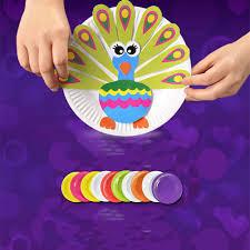 Children Cartoon 3D Puzzle DIY Toy Paper Plate Paste Sticker Handwork Gifts