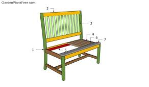 how to build a park bench free garden plans how to build