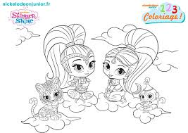 Coloriage Nickelodeon with Shimmer Et Shine Coloriage at