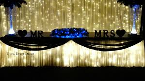 Bridal Table Twinkle Fairy Lights With Draping And Scalloping Light Backdrop Wedding