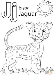 Letter J Is For Jaguar Coloring Page Inside Pages