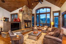 Great Room Windows Living Rustic With Arched Window Traditional Chandeliers