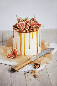 Non Traditional Wedding Cake ChocOlate Ombre With Mascarpone Goat Cheese Filling Caramel Fig Walnut Top