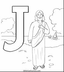 Terrific Printable Bible Coloring Pages Jesus With Page And Free