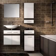 badset badezimmer komplett 4 teilig eiche dunkel weiß hochglanz neu