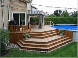 Above Ground Pool Deck Images by Best 25 Above Ground Pool Decks Ideas On Pinterest Above Ground
