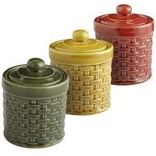 Basketweave Spice Jars Are So Beautiful Find This Pin And More On Kitchen Decor Items