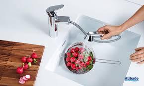 mitigeur de cuisine avec douchette robinet de cuisine avec douchette grohe eurodisc espace aubade