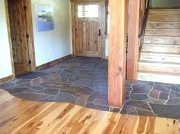 Entryway Floors Foyer Two Flooring Materials Stone Wood Entry Ideas Outdoor