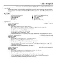 Residential House Cleaner Resume Sample
