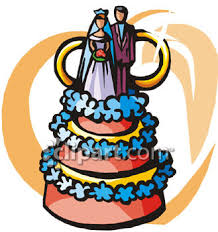 0060 0911 0512 3534 Wedding Cake Decorated With Flowers clipart image