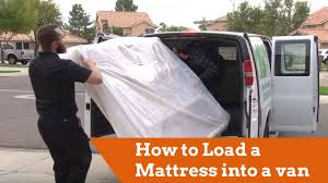How To Load A Mattress Into A Cargo Van - YouTube