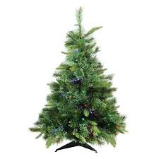 Northlight 3 Ft Pre Lit Cashmere Pine Artificial Christmas Tree With 100 Constant Multicolor