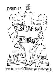 Be Strong And Courageous Coloring Page By KristaHamrick