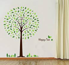 hunnt皰 happy tree wall sticker decal ideal for