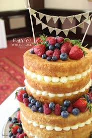 Wedding Cakes Wakefield West Yorkshire Elegant Rustic Cake With Berries For Laura And Chris At