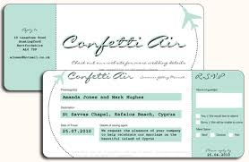 Airline Ticket Wedding Invitation Template Plane Download