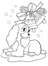 Lovely Cute Christmas Coloring Pages Printable 9