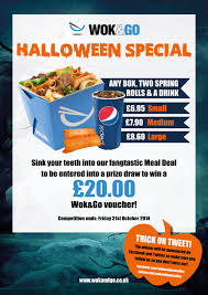 Date Halloween 2014 by Wok U0026 Go Keeping You Up To Date With The Freshest And Tastiest