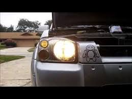 2003 nissan frontier truck headlight bulb install part 1