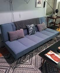 mod cb2 flex frost sleeper sofa in williamsburg kings county