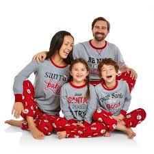 holiday family pajamas santa u0027s list sleep pant and top 2 piece