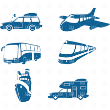 And Travel Icons Vehicles Download Royalty Free Vector Clipart EPS