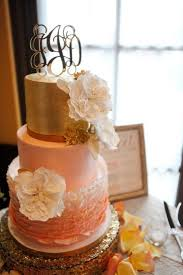 Peach Ruffle Wedding Cake By Craftsy Member Angsaban
