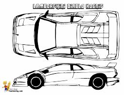 Rich Relentless Lamborghini Cars Coloring