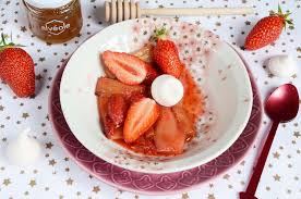 dessert aux fraises facile rhubarbe et fraises rôties dessert facile