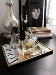 Vintage Parisian Frame Turned Into A Perfume Tray Using 1950s Vogue Cover Reprint Get