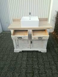 badezimmerunterschrank vintage look mit aufsatzbecken