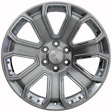 20-inch Chrome Insert Hyper Black Rims Fit Chevy Silverado - CV93 ...