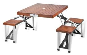 amazon com picnic at ascot portable picnic table set kitchen