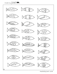 Origami Fish Patterns Printable Made Modern Designs Coloring Sheet Free Template Full Size