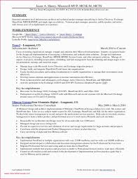 Sample Resume For Experienced Project Manager Examples Best Of Fresh Grapher