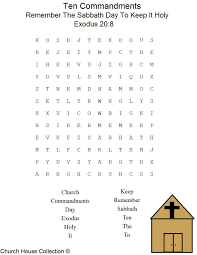 This Is A Free Printable Ten Commandments Word Find Puzzle For The Coloring Pages