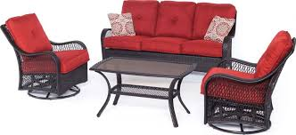 orleans 4 outdoor conversation set with swivel glider chairs