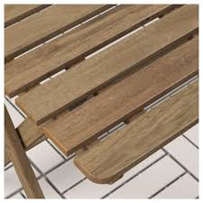 Runnen Floor Decking Uk by Askholmen Table Outdoor Foldable Grey Brown Stained 60x62 Cm Ikea