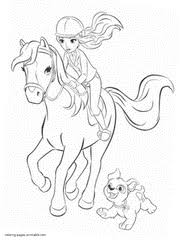 Mia Riding A Horse Coloring Page Lego