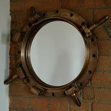Naval Porthole Mirrored Medicine Cabinet by This Is A Large Bronze Mirror From An Antique Royal Navy Porthole