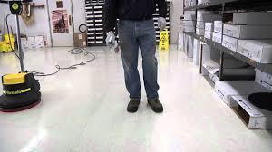 how to buff a floor spray buffing burnishing youtube