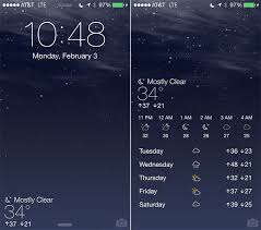 Forecast brings the Weather app to the Lock screen
