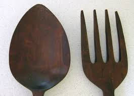 large wooden fork and spoon wall hanging spoon and fork wall decor oversized spoon and fork wall