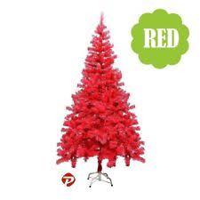4 5 6 7 Ft BLACK XMAS PVC Artificial Christmas Tree Unlit Multiple