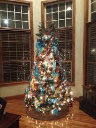 Shopko Christmas Tree Toppers by Chocolate Brown And Turquoise Christmas Tree Works Perfect In This