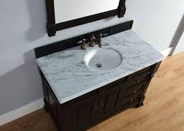 Modern Bathroom Vanity Closeout by Abstron 48 Inch Black Finish Single Traditional Bathroom Vanity