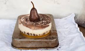 kakao swirl cheesecake mit schokobirne