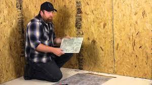 Preparing Osb Subfloor For Tile by How To Lay Peel U0026 Stick Vinyl On A Wood Floor Flooring Help