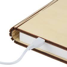 Lumio Book Lamp Shark Tank by Wooden Folding Book Light Magicfly Usb Rechargable Book Shaped
